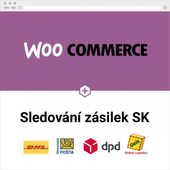WooCommerce sledování zásilek pro slovenské dopravce